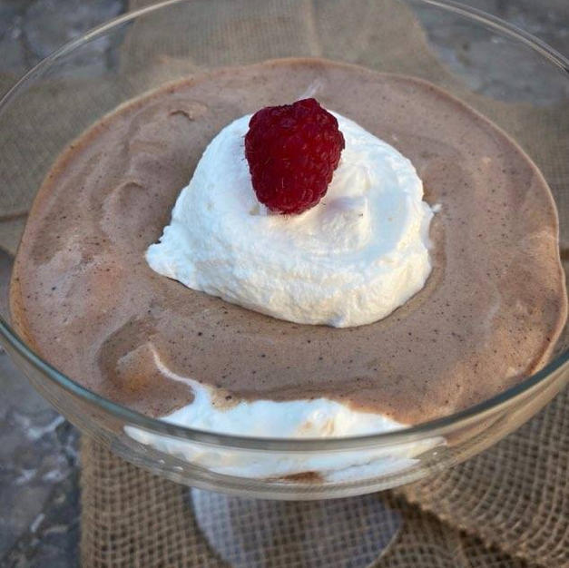 Chocolate Mousse with Fresh Whipped Cream