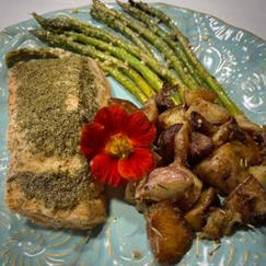 Salmon, Baked with Lemon-Dill Butter