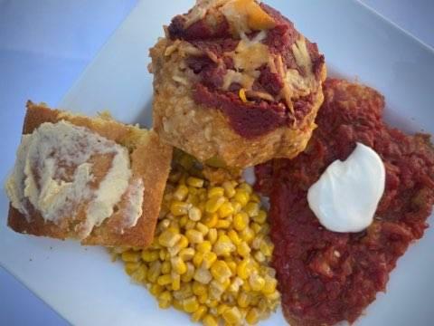 Southwest Chicken served with Sour Cream & Salsa