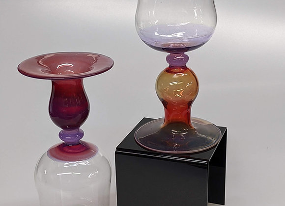 Snifter Pair Sunset Color