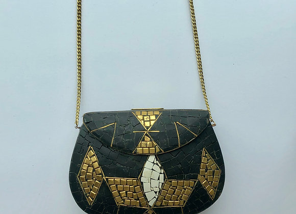 'ROCK' bag - Touch of Gold