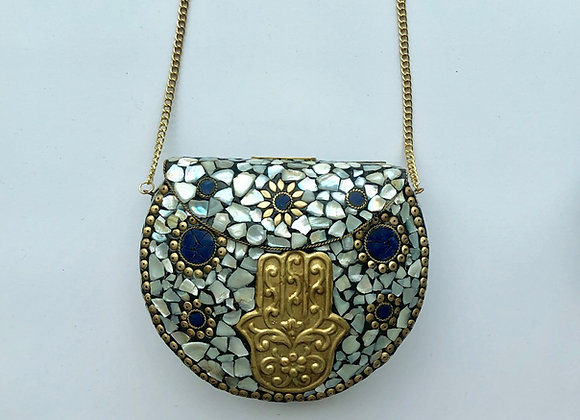 'ROCK' bag - Hamsa Blue