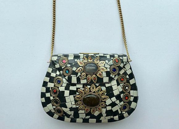 'ROCK' bag - Golden stone