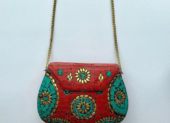 'ROCK' bag - Ruby Red