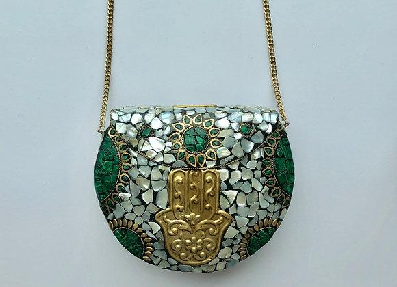 'ROCK' bag - Hamsa Green