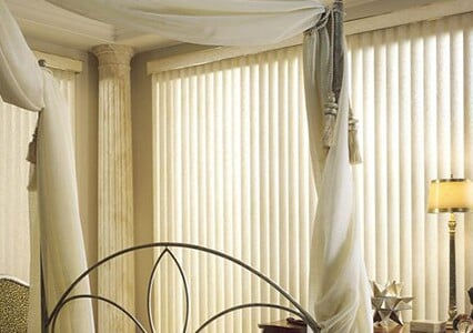 Vertical Blinds by Jim's Blinds and shutters in Dundee and Lakelan Florida