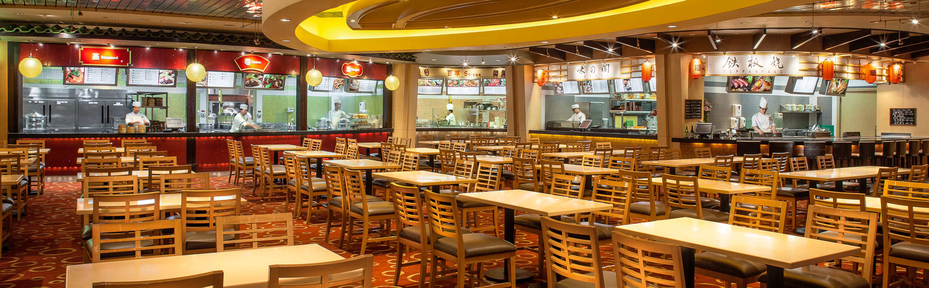 FOOD COURT SPACES READY