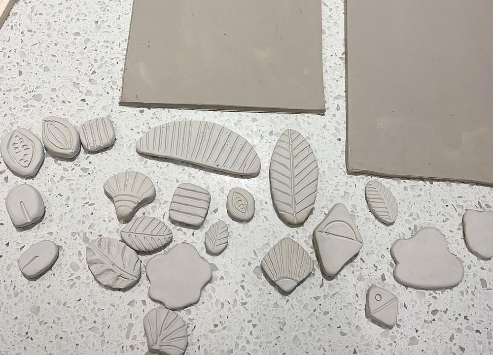 Ceramic sculpted stamps, Jenna Archer, Calgary, Canada