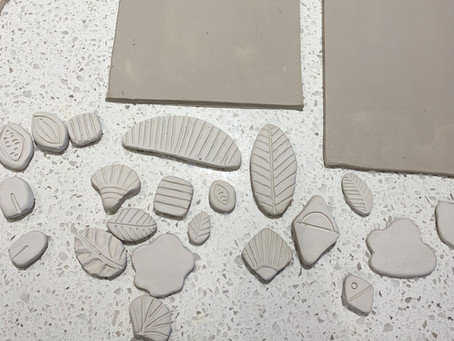 Stamping Patterns into Clay