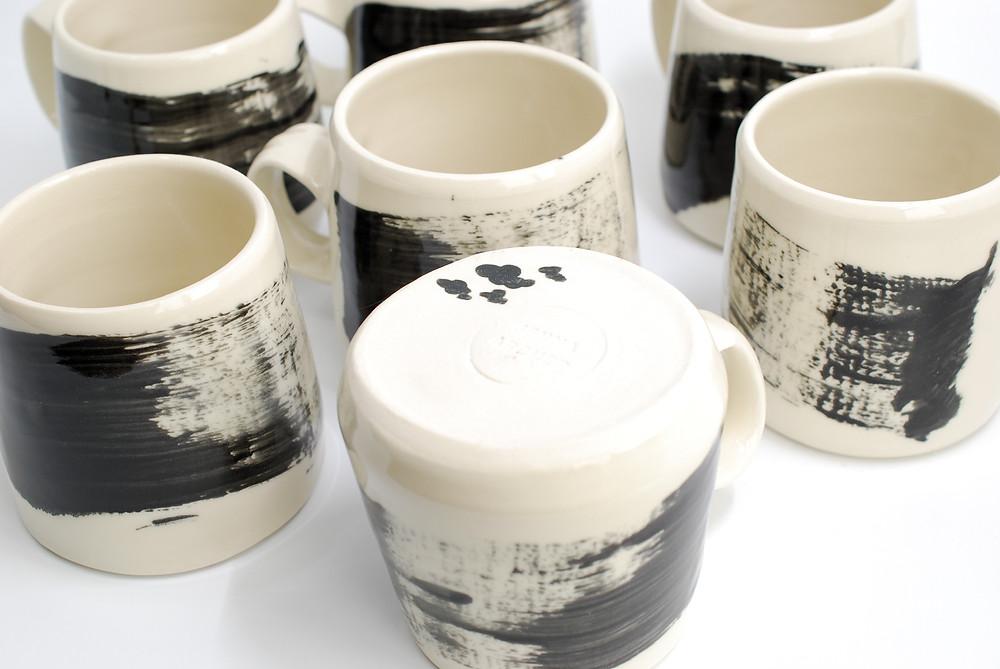 Handcrafted pottery mugs, Jenna Archer Ceramics, Calgary, Canada