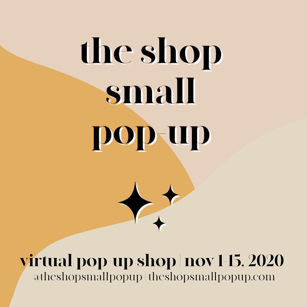 Shop Small Pop-up Market poster, Virtual market,