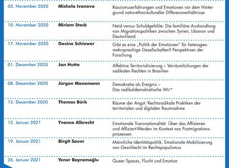 """Ringvorlesung """"Emotionen in der Migrationsgesellschaft"""""""