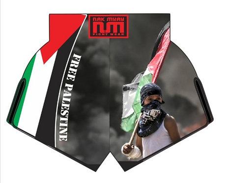 Free Palestine Charity MuayThai Shorts