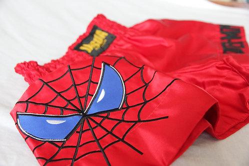 Super Hero Muay Thai Shorts Red