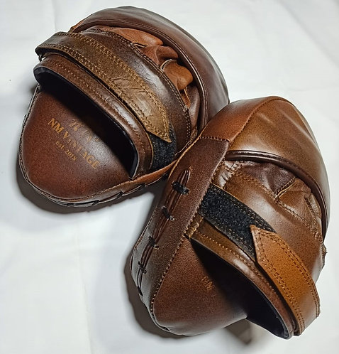 Walnut Leather Boxing Mitts