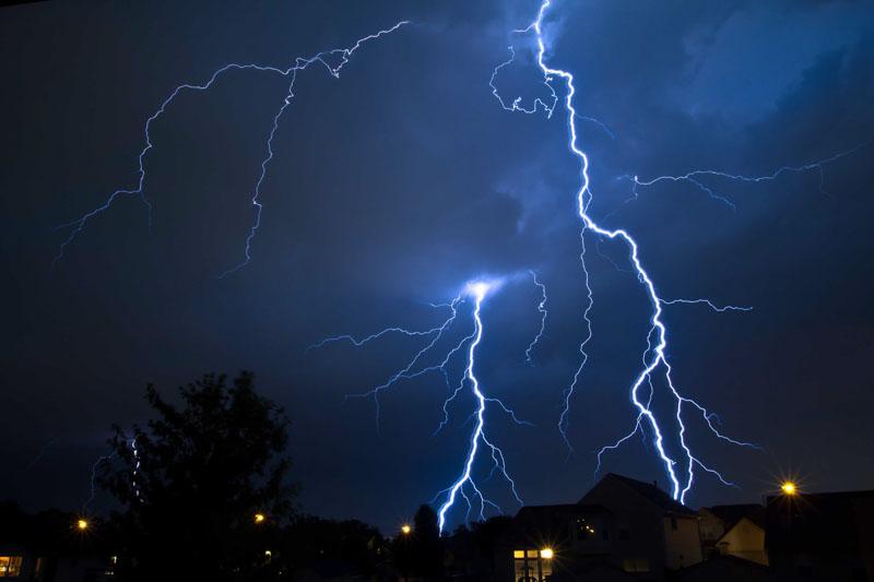 Lightning from my Back Yard