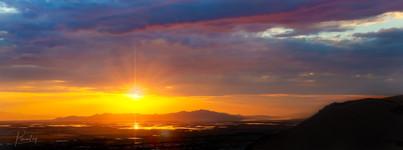 Salt Lake City Sun Set