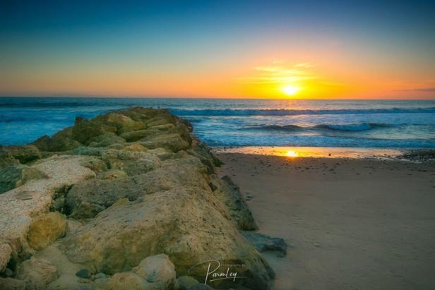 Ventura Beach Sun Set