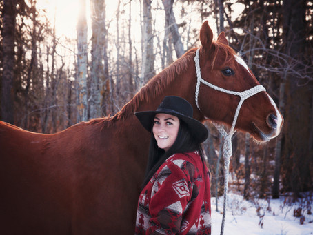 Magical Winter Equine Session