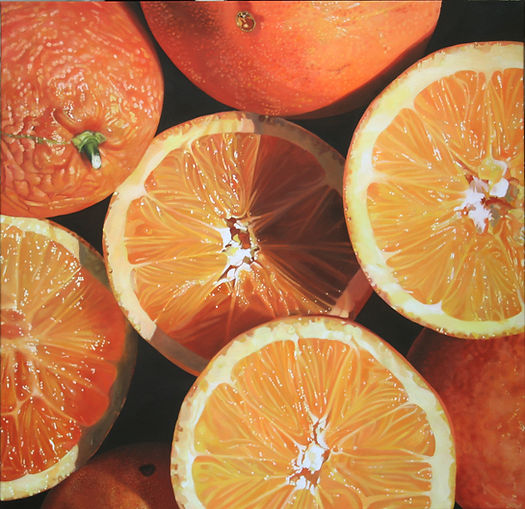 Jacques Bodin, fruits, hyperrealism, hyperréalisme