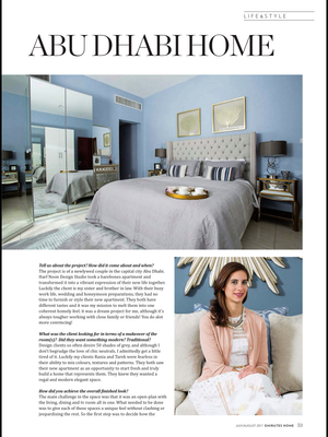 OUR ABU DHABI NEWLY WEDS APARTMENT AS FEATURED IN EMIRATES HOME MAGAZINE
