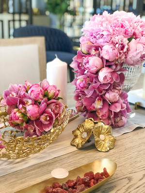 PERSIAN BLUSH DINNER TABLESCAPE