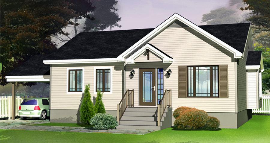 Maisons Rubix Perle, maisons usinées, prefab homes, modular homes