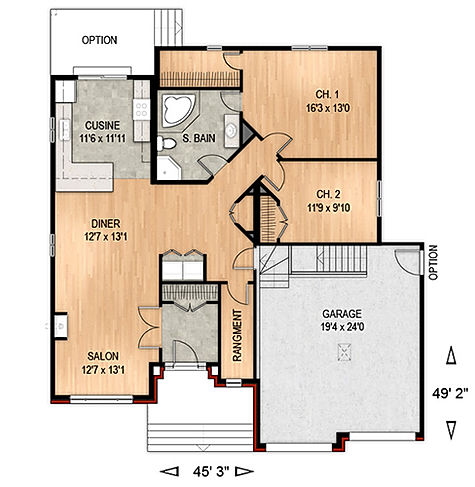 Maisons Rubix Lotus floorplan, maisons usinées, prefab homes, modular homes