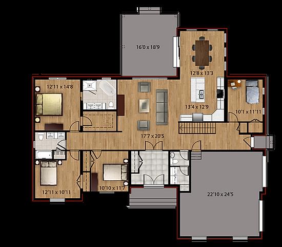 Maisons Rubix Hudson, maisons usinées, prefab homes, modular homes