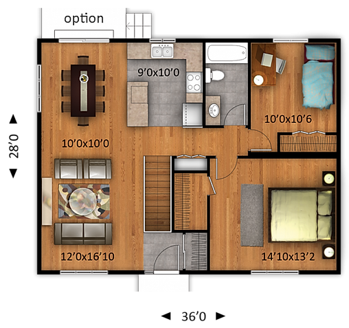 Maisons Rubix Citrine floorplan, maisons usinées, prefab homes, modular homes