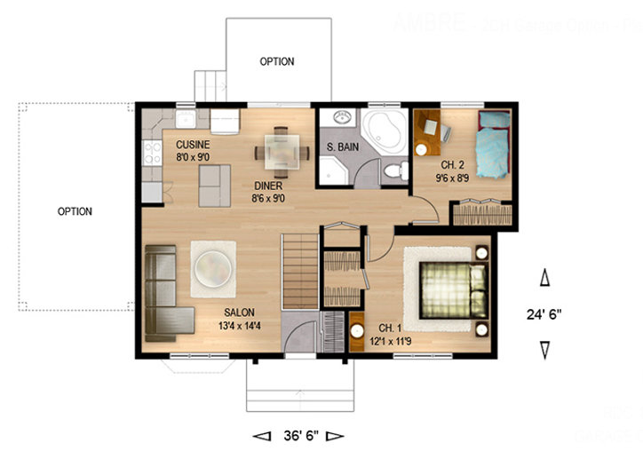 Maisons Rubix Ambre floorplan, maisons usinées, prefab homes, modular homes