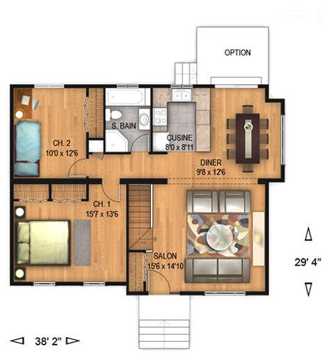 Maisons Rubix Perle floorplan, maisons usinées, prefab homes, modular homes