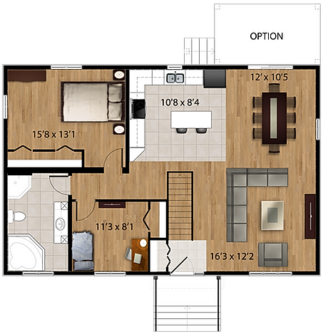 Maisons Rubix Emerald Floorplan version 2, maisons usinées, prefab homes, modular homes
