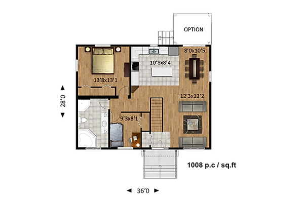 Maisons Rubix Emerald Floorplan version 1, maisons usinées, prefab homes, modular homes