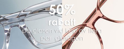 50% rabatt glasögon