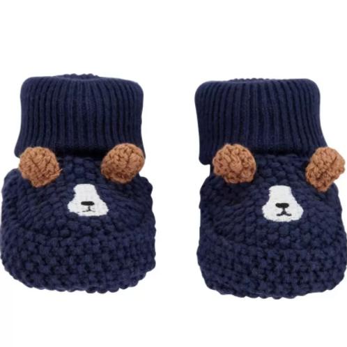 Botitas Crochet Azul Perrito