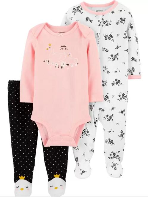 Set de 2 Piezas  y  Pijama Cisne