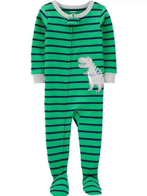 Pijama Algodón Rayas Dinosaurio