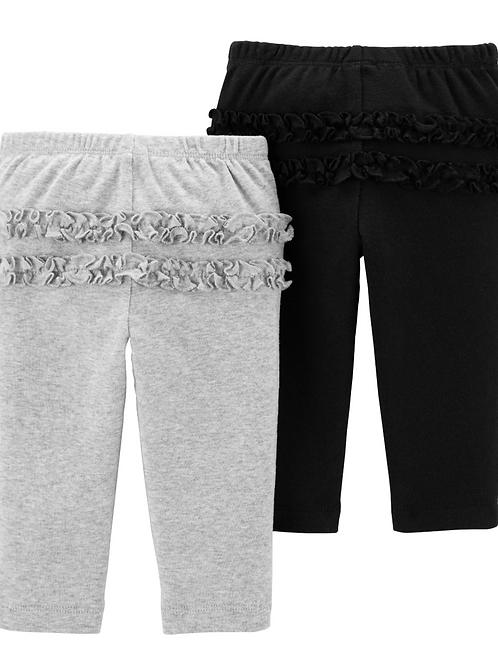 Set de 2 Pantalones Gris / Negro