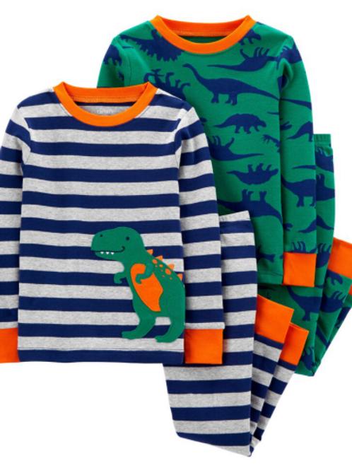 Pijama 4 Piezas Dinosaurios