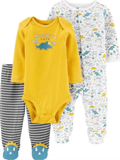 Set de 2 Piezas  y  Pijama Dinosaurio