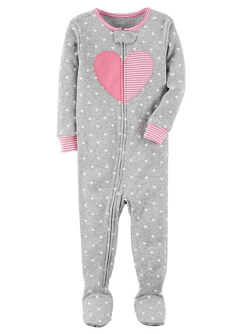 Pijama Gris Corazón