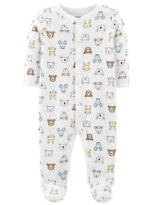 Pijama Blanca  Animalitos 100%Algodón