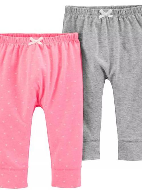 Set de 2 Pantalones Corazoncitos