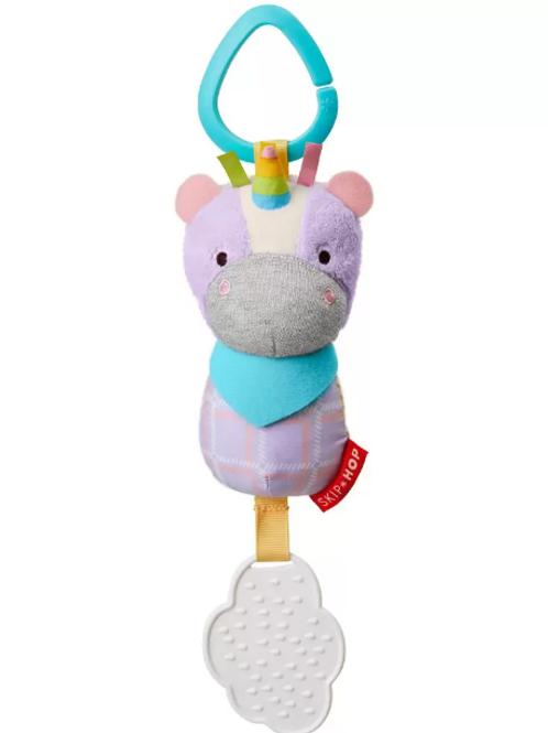 Juguete Mordedor Unicornio 5 cm ancho x 15.24cm alto.