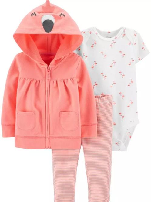 Set de Jacket 3 Piezas Flamingo
