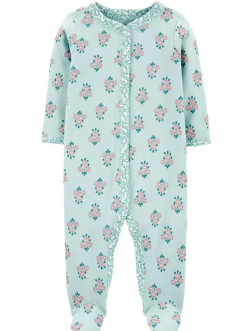 Pijama Algodón Verde Floral