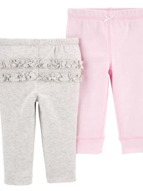 Set de 2 Pantalones Gris / Rosado