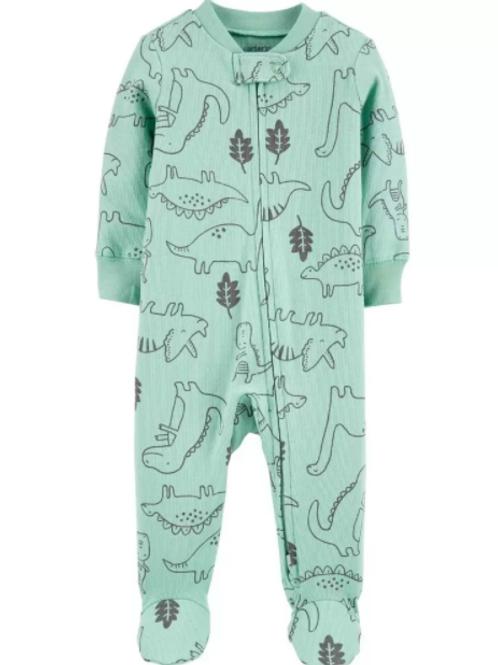 Pijama Algodón Dinosaurio Verde