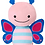 Thumbnail: Peluche de Felpa Mariposa 17.18 cm ancho x 20.32 cm alto.